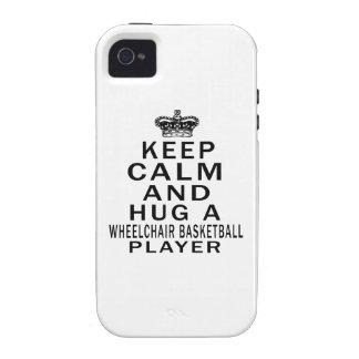 Keep Calm And Hug A Wheelchair Basketball Player iPhone 4/4S Cases
