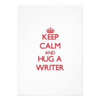 Keep Calm and Hug a Writer Custom Invites