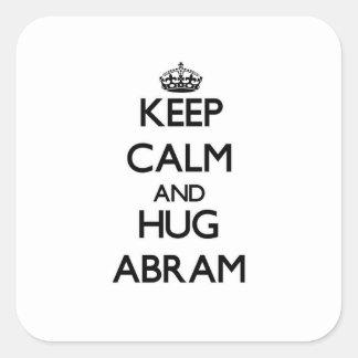 Keep Calm and Hug Abram Square Sticker