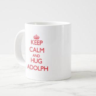 Keep Calm and HUG Adolph Extra Large Mugs