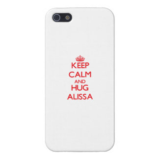 Keep Calm and Hug Alissa Cover For iPhone 5/5S