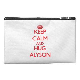 Keep Calm and Hug Alyson Travel Accessories Bag