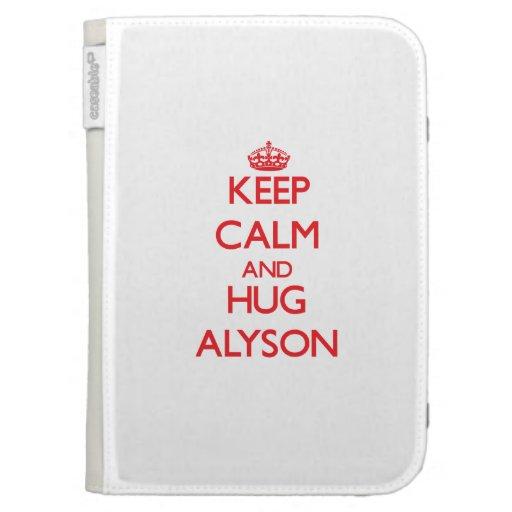 Keep Calm and Hug Alyson Kindle 3G Case