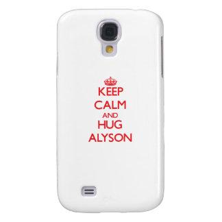 Keep Calm and Hug Alyson Samsung Galaxy S4 Covers