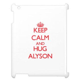 Keep Calm and Hug Alyson iPad Cover