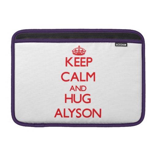 Keep Calm and Hug Alyson Sleeves For MacBook Air