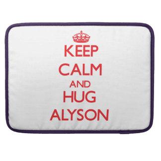 Keep Calm and Hug Alyson Sleeves For MacBooks