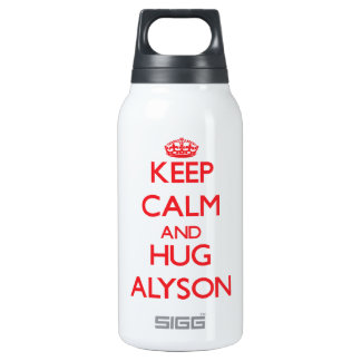 Keep Calm and Hug Alyson 10 Oz Insulated SIGG Thermos Water Bottle