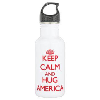Keep Calm and Hug America 532 Ml Water Bottle