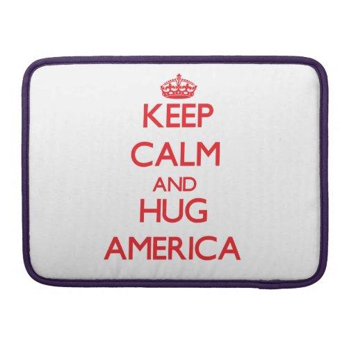 Keep Calm and Hug America Sleeve For MacBook Pro