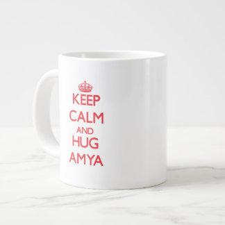 Keep Calm and Hug Amya Jumbo Mugs