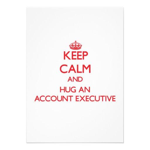 Keep Calm and Hug an Account Executive Invitations