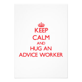 Keep Calm and Hug an Advice Worker Custom Invite
