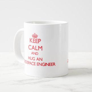 Keep Calm and Hug an Aerospace Engineer Jumbo Mug