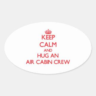Keep Calm and Hug an Air Cabin Crew Stickers
