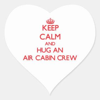 Keep Calm and Hug an Air Cabin Crew Heart Stickers