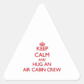 Keep Calm and Hug an Air Cabin Crew Triangle Stickers