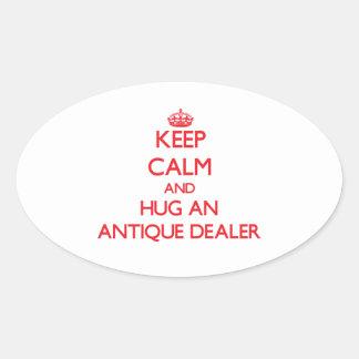 Keep Calm and Hug an Antique Dealer Sticker