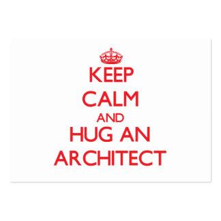 Keep Calm and Hug an Architect Business Cards