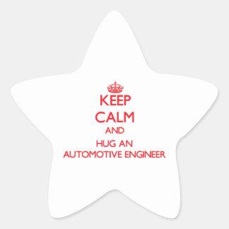 Keep Calm and Hug an Automotive Engineer Sticker