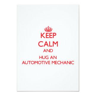Keep Calm and Hug an Automotive Mechanic Custom Invites