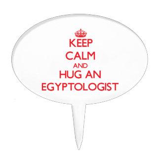 Keep Calm and Hug an Egyptologist Cake Pick