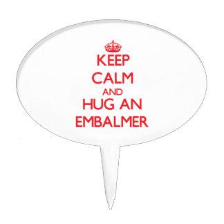 Keep Calm and Hug an Embalmer Cake Picks