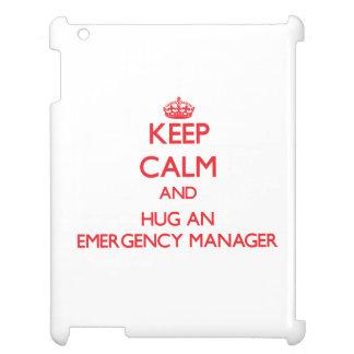 Keep Calm and Hug an Emergency Manager iPad Case
