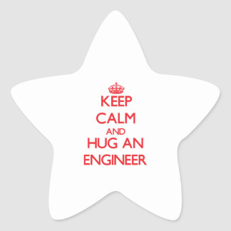 Keep Calm and Hug an Engineer Star Sticker