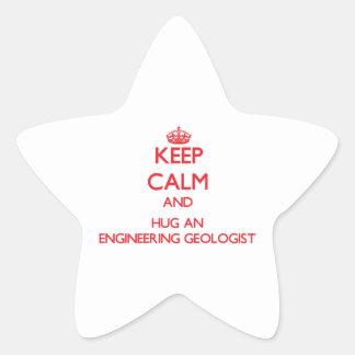 Keep Calm and Hug an Engineering Geologist Star Sticker