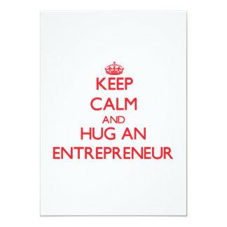 Keep Calm and Hug an Entrepreneur 13 Cm X 18 Cm Invitation Card