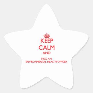 Keep Calm and Hug an Environmental Health Officer Star Sticker