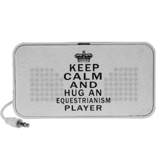 Keep Calm And Hug An Equestrianism Player Travel Speakers