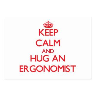 Keep Calm and Hug an Ergonomist Pack Of Chubby Business Cards