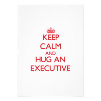 Keep Calm and Hug an Executive Custom Invite