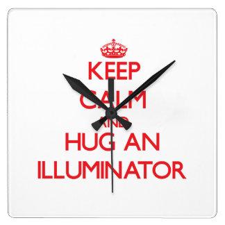 Keep Calm and Hug an Illuminator Wallclock