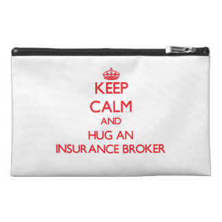 Keep Calm and Hug an Insurance Broker Travel Accessories Bags
