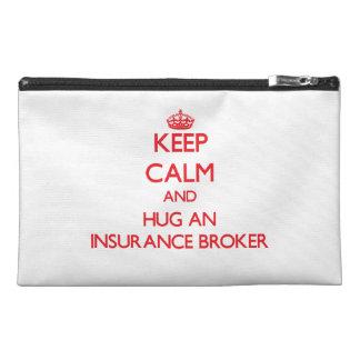 Keep Calm and Hug an Insurance Broker Travel Accessories Bags