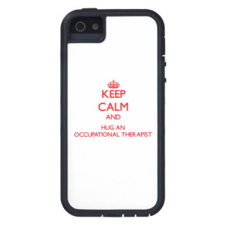 Keep Calm and Hug an Occupational Therapist iPhone 5 Cases