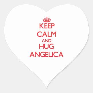 Keep Calm and Hug Angelica Heart Sticker