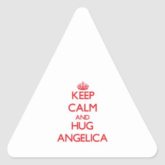 Keep Calm and Hug Angelica Stickers
