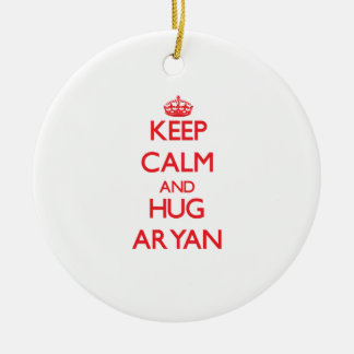 Keep Calm and HUG Aryan Ornament