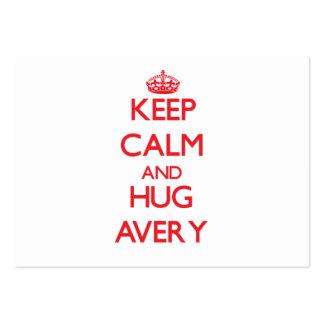 Keep calm and Hug Avery Business Card Templates