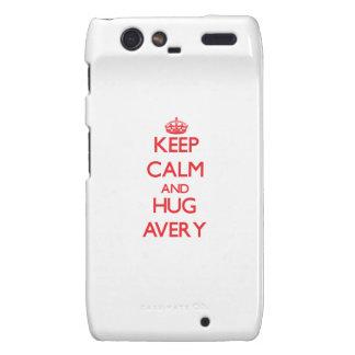 Keep calm and Hug Avery Droid RAZR Cover