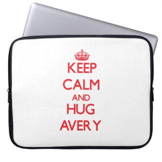 Keep calm and Hug Avery Computer Sleeve
