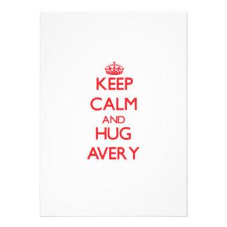 Keep calm and Hug Avery Announcement