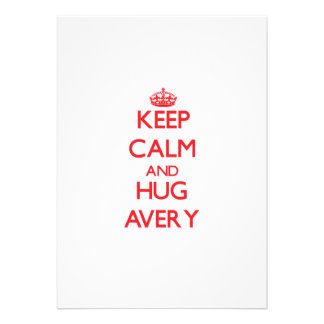 Keep calm and Hug Avery Personalized Announcements