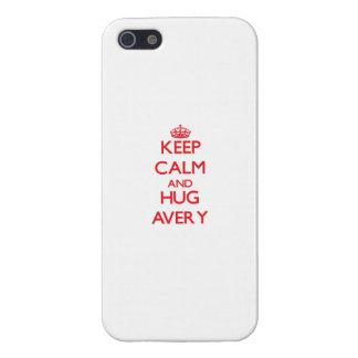 Keep calm and Hug Avery iPhone 5 Cases
