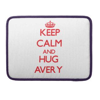 Keep calm and Hug Avery MacBook Pro Sleeves