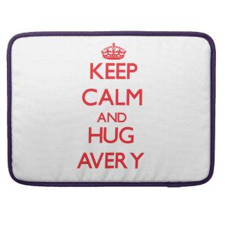 Keep calm and Hug Avery MacBook Pro Sleeve